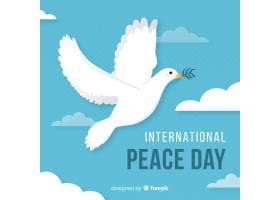 鸽子和平日背景平面设计_5233397