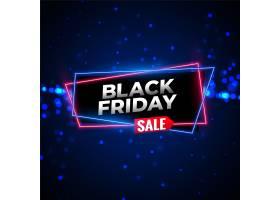 黑色星期五销售霓虹灯背景与发光粒子_6080546