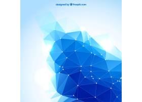 蓝色抽象多边形背景_792198