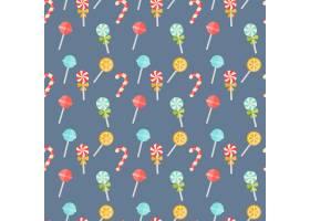 蓝色的彩色糖果无缝背景图案上面有喜庆的_10700778