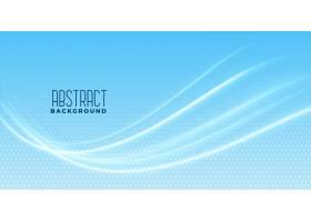 蓝色背景下的平滑波浪设计_4403189