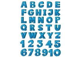 蓝色英文字母字体设计_1372643