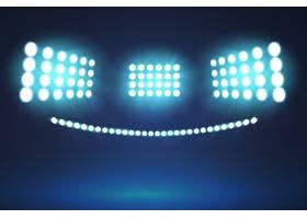 逼真的设计明亮的体育场灯光_6355771