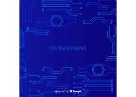 采用渐变风格的现代CPU背景_3317230