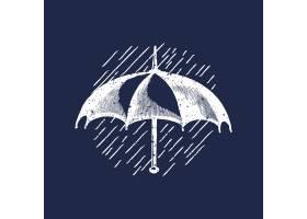 经典雨伞标志插图_3834159
