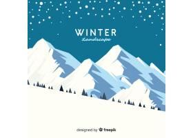 美丽的冬季景观背景_3328910