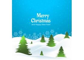 美丽的圣诞快乐创意树_3412475