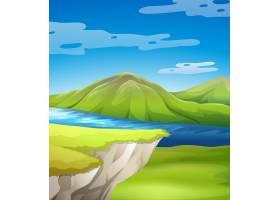 美丽的湖边悬崖风光_4092867