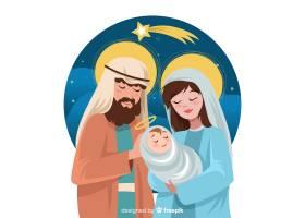 美丽的耶稣诞生背景_3312495