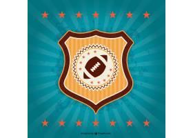 美式足球复古徽章徽章_722350