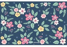 肮脏的花朵背景_5735044