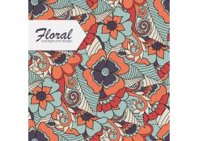 花卉图案与缠绕的花朵_3438851