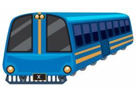 白色背景上的蓝色列车_1551457