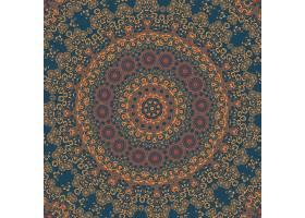 矢量装饰性圆形花边搭配锦缎和阿拉贝斯元_1283518