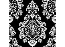 矢量锦缎无缝图案元素古典奢华的老式锦缎_10050413