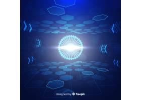 科技光隧道未来主义背景_4920928