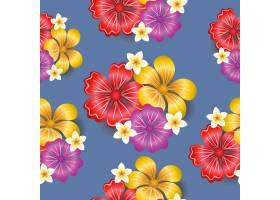 热带花卉无缝图案背景_4561544