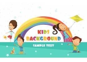 用彩虹玩儿童卡通背景_3998281