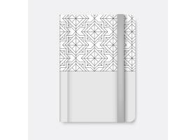 白色日记矢量的黑色几何图案封面_3600964