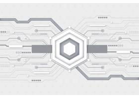 白色未来主义科技壁纸_6390484