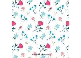 白色背景上可爱的花朵图案_5367518