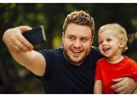 父亲和儿子自拍_4961048