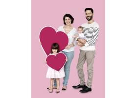 幸福的家庭手持心形图标_3533869