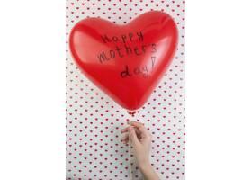 母亲节背景与心形气球_1936353