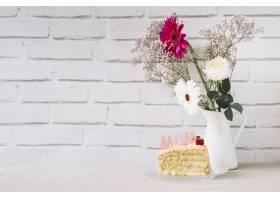 母亲节概念与植物和蛋糕_1960771