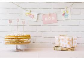 母亲节蛋糕和礼物_1960747