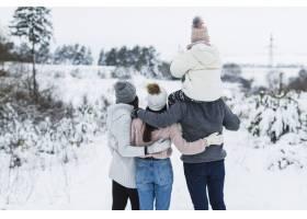 后景家庭欣赏冬季风景_1891672
