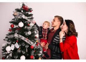 一家人在家里过圣诞节_1603620