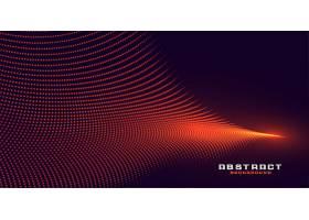 发光的抽象橙色粒子波背景_5504305