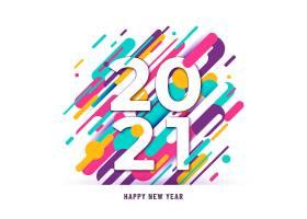 2021年喜庆新年背景数字大线条抽象_10816984