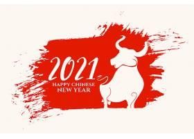 中国新年快乐的牛卡_12158378