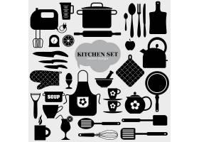 黑色厨房元素_893787