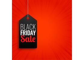 黑色星期五促销活动在红色背景上悬挂标签_10930067