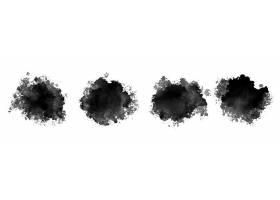黑色水墨水彩飞溅纹理集四个_9728078