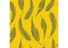 黄色羽毛无缝的民族图案_5042212