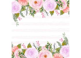 美丽的红色和紫色的乡村花卉背景抽象的线_13304957