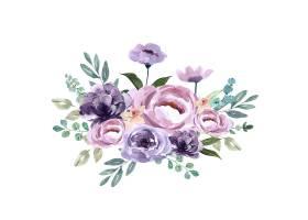 花束独特的封面装饰异国情调的紫色花朵_5439681