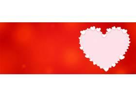 装饰心形情人节红色横幅_12573278
