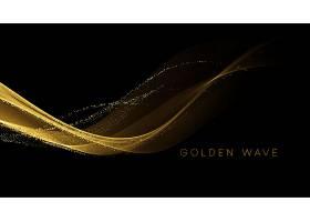 金色的流浪在黑色上闪烁着闪闪发光的尘埃_12566436