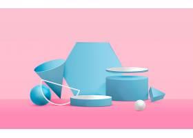 粉红色背景的3D抽象场景_13294755