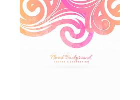 粉红色花卉背景_831658