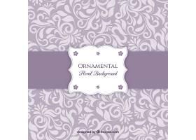 紫色背景配以花卉装饰品_950285