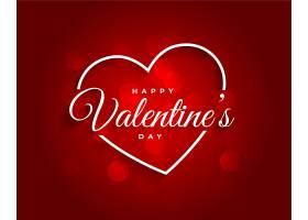 红色美丽的情人节背景_12438328