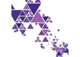 漂亮的彩色三角形背景矢量_2403026