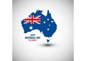 澳大利亚日快乐卡片附地图_832098
