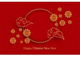 祝中国新年快乐红色背景_3682932